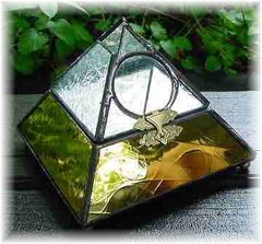 Glass Pyramid Urn