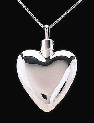 Keepsake Pendant - Sterling Silver Heart 3