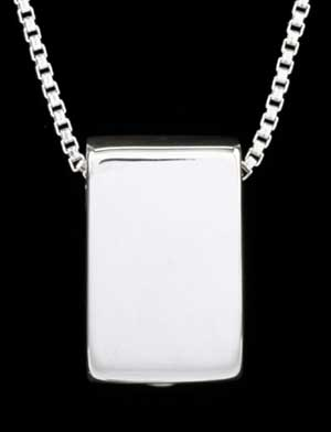 Keepsake Pendant - Sterling Silver Rectangle 21