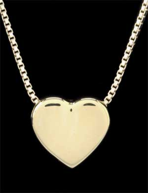 Keepsake Pendant - 14k Gold Heart 25